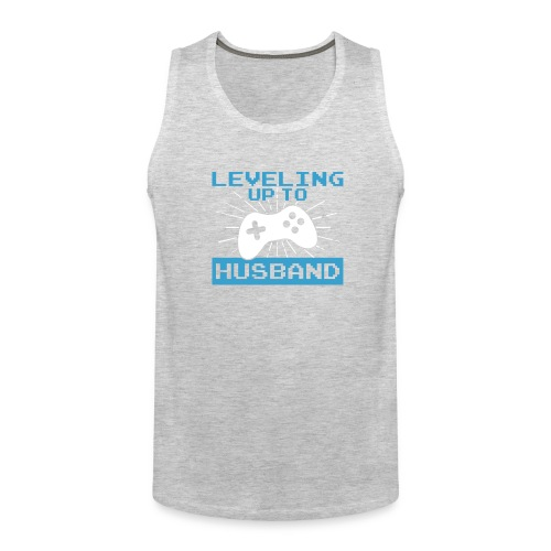 Funny Leveling Up To Husband T-Shirt - Men's Premium Tank