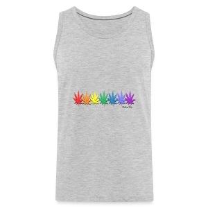 rainbow leaves - Men's Premium Tank