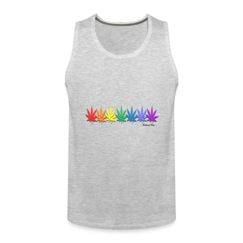 rainbow leaves - Men's Premium Tank