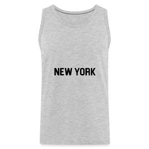 New York Yankee - Black - Men's Premium Tank
