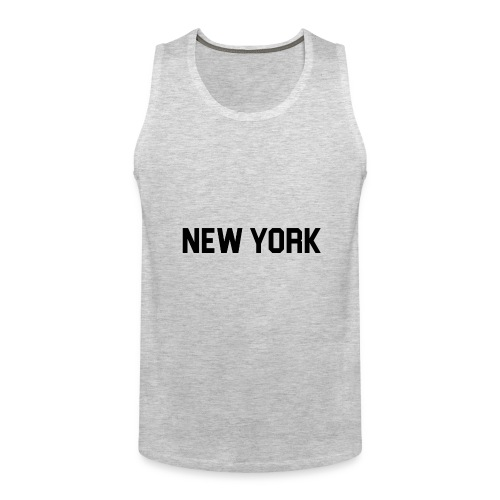 New York Yankee - Black - Men's Premium Tank