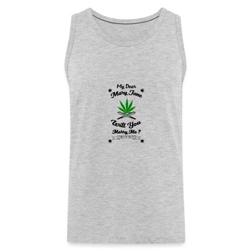 Mary Jane Weed 420 Marijuana - Men's Premium Tank