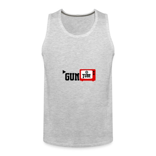 guntube larger logo - Men's Premium Tank