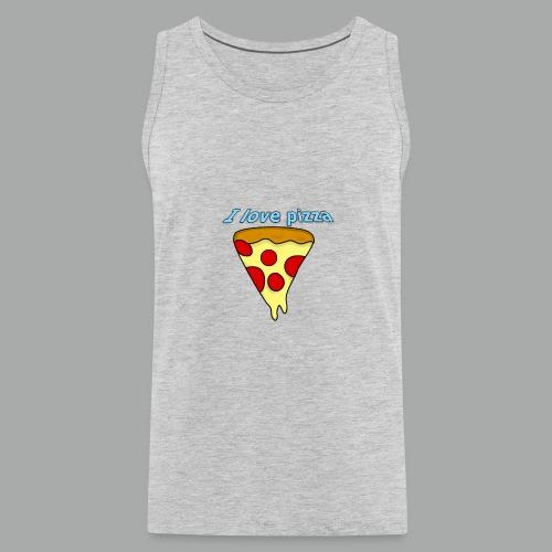 I love pizza - Men's Premium Tank