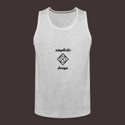 Simplistic Design Logo With Text - Men's Premium Tank