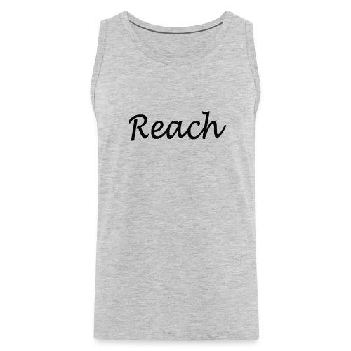 Classic Reach logo black - Men's Premium Tank