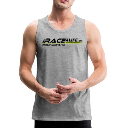 iRace4Life.org Logo with iRace-iWin-iGive! - Men's Premium Tank