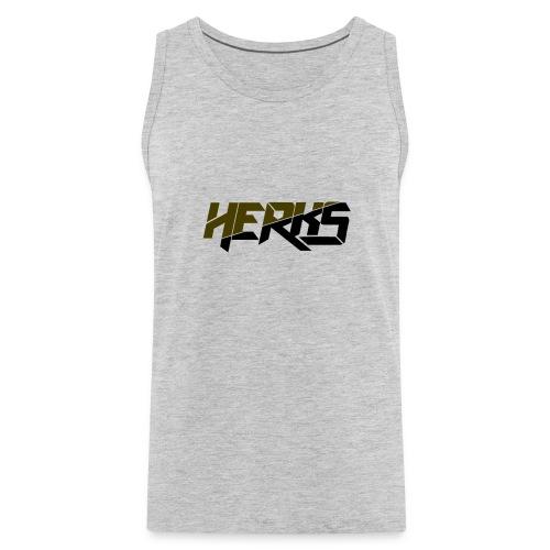 HerKs Military Text - Men's Premium Tank