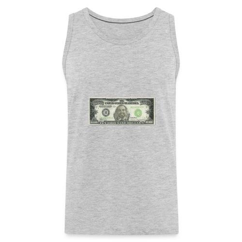 Face on Paper Money - Men's Premium Tank