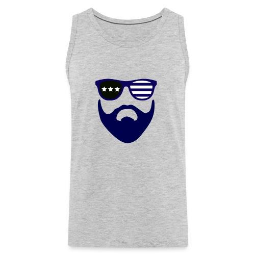 Blue beard-beard gang - Men's Premium Tank
