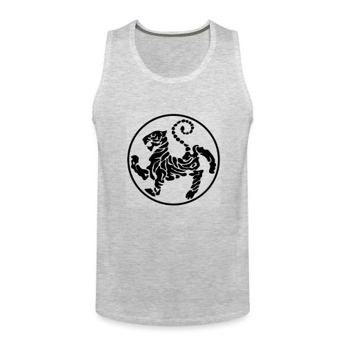 Shotokan-Tiger_black - Men's Premium Tank