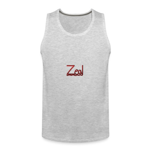 Zeal Red Logo - Men's Premium Tank