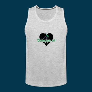 Dancer At Heart (Black Heart) - Men's Premium Tank