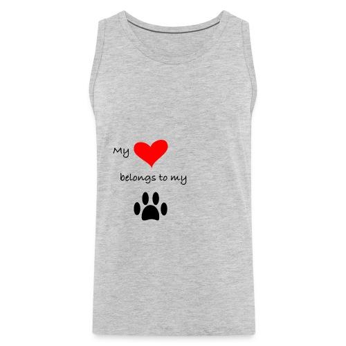 Dog Lovers shirt - My Heart Belongs to my Dog - Men's Premium Tank