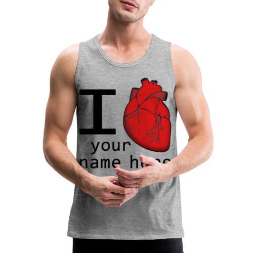 Human Heart - Men's Premium Tank