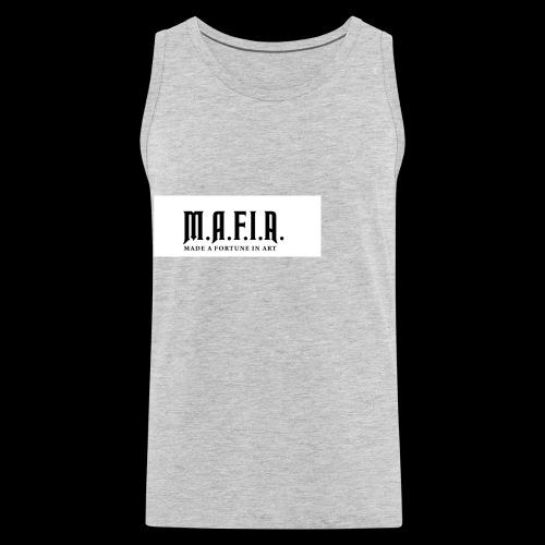 Classic Mafia Logo(White) - Men's Premium Tank