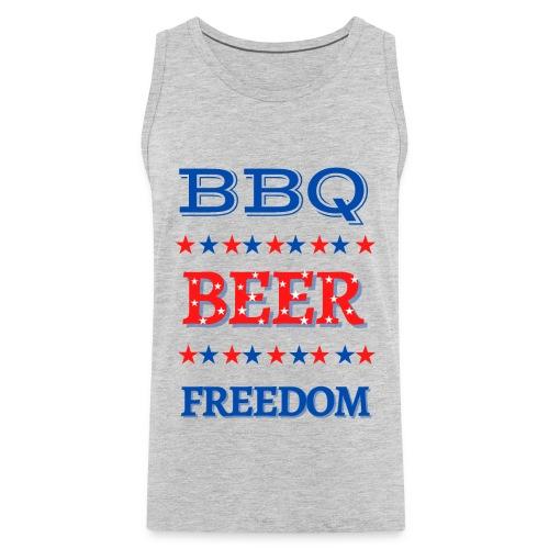 BBQ BEER FREEDOM - Men's Premium Tank