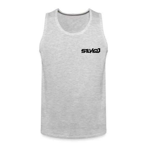 SilvioJ Text Logo Black - Men's Premium Tank