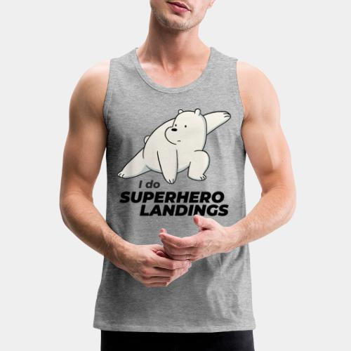 superhero landing hero - Men's Premium Tank