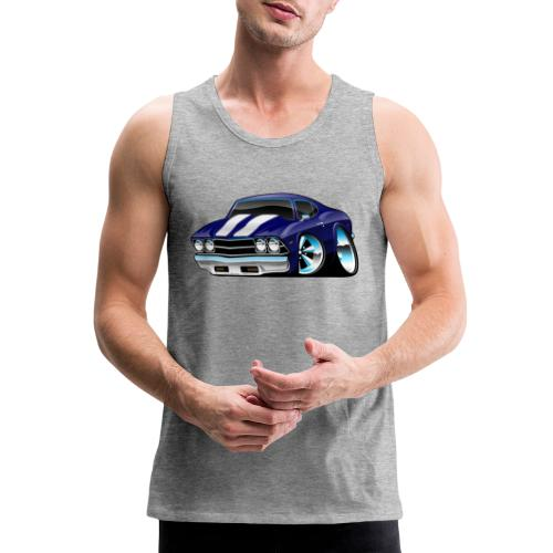 Classic American Muscle Car Cartoon - Men's Premium Tank