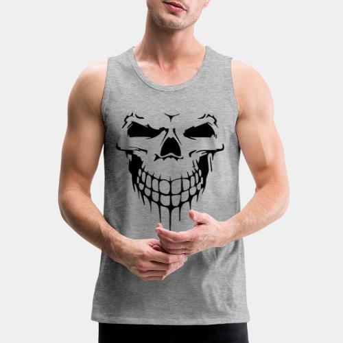skull rock metal face - Men's Premium Tank
