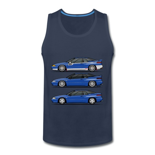 Subie Alcyone SVX Laguna Blue Pearl Trio - Men's Premium Tank