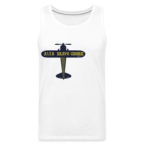 International Phonetic Alphabet Airplane - Men's Premium Tank