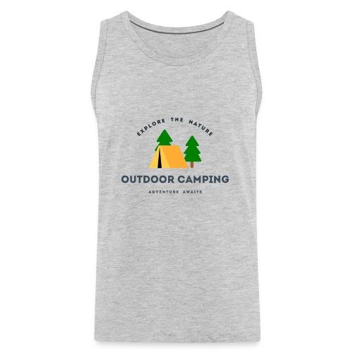 Outdoor Camping Adventure awaits T-shirt - Men's Premium Tank
