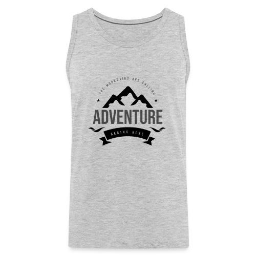 The mountains are calling T-shirt - Men's Premium Tank
