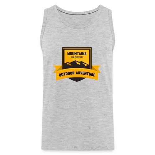 Mountains Dare to explore T-shirt - Men's Premium Tank