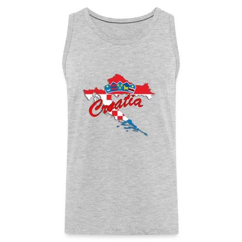 Croatia Football Team Colours T-Shirt Treasure Des - Men's Premium Tank