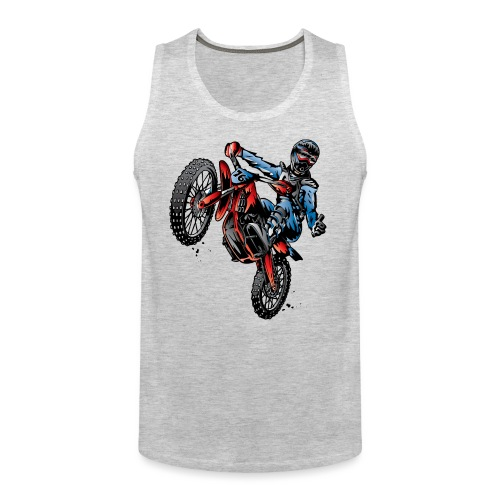 Motocross Dirt Bike Stunt Rider - Men's Premium Tank