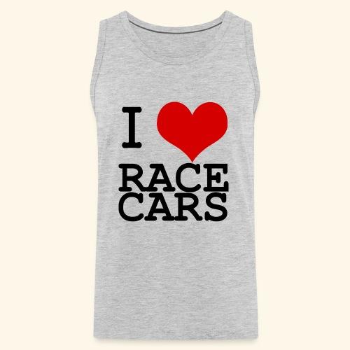 I Love Race Cars - Men's Premium Tank