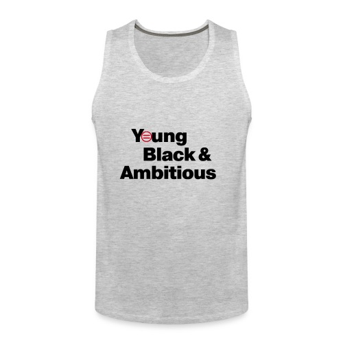 YBA white and gray shirt - Men's Premium Tank