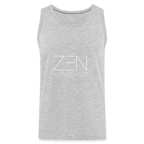 Zen Activewear white 2 - Men's Premium Tank