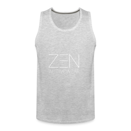 Zen Activewear white 2 - Men's Premium Tank