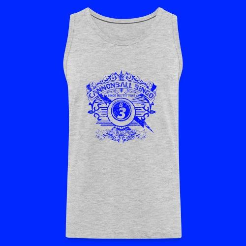 Vintage Cannonball Bingo Crest Blue - Men's Premium Tank