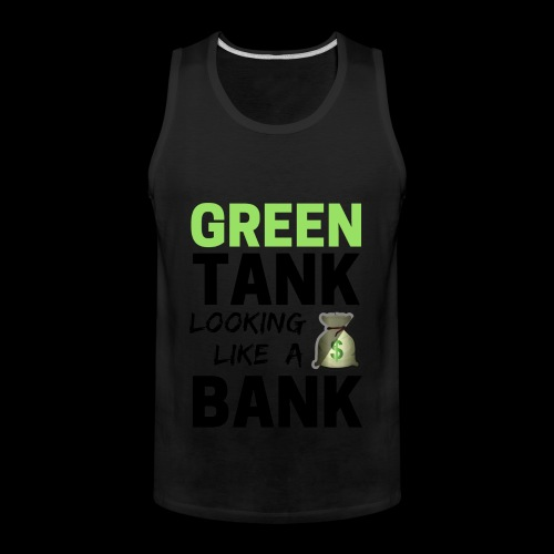 convert design to vector graphic blackgr - Men's Premium Tank