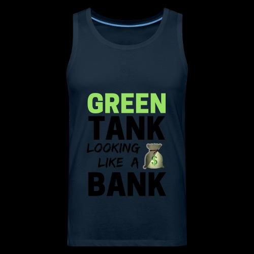 convert design to vector graphic blackgr - Men's Premium Tank