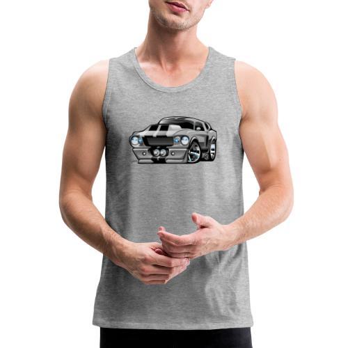 Classic Sixties American Muscle Car Cartoon - Men's Premium Tank