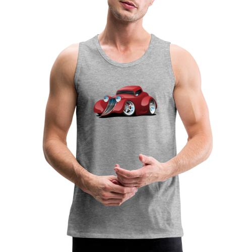 Red Hot Rod Restomod Custom Coupe Cartoon - Men's Premium Tank