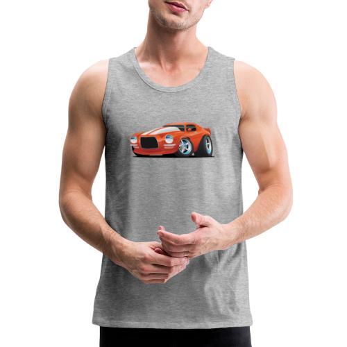 Classic Seventies Muscle Car Cartoon - Men's Premium Tank