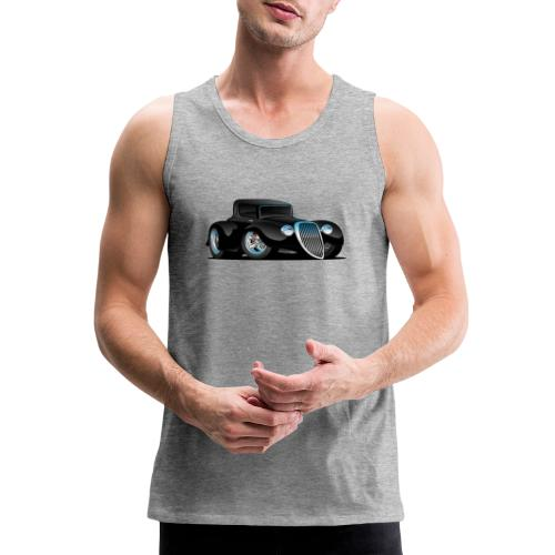 Black Hot Rod Classic Coupe Custom Car Cartoon - Men's Premium Tank