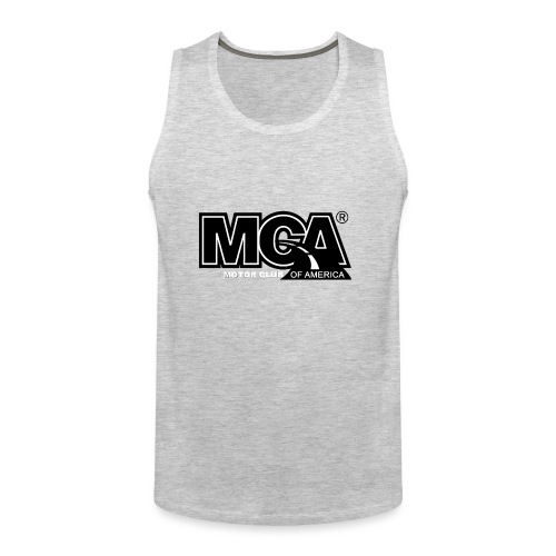 MCA Logo WBG Transparent BLACK TITLEfw fw png - Men's Premium Tank