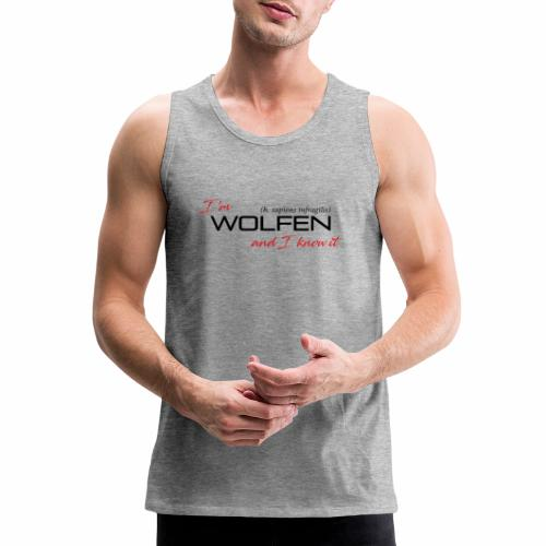 Wolfen Attitude on Light - Men's Premium Tank