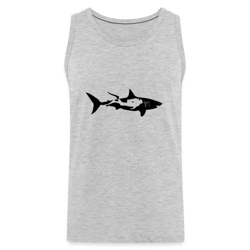 shark scuba diver diving whale dolphin manta - Men's Premium Tank