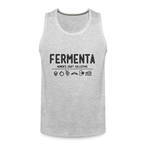 FermentaBlack-Cheesy - Men's Premium Tank