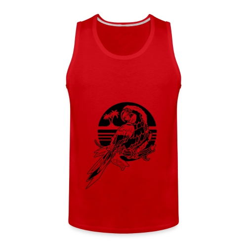 Tropical Parrot - Men's Premium Tank
