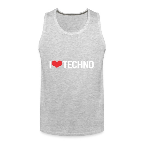 I Love Techno - Men's Premium Tank