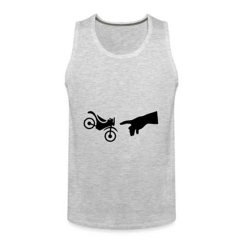 The hand of god brakes a motorcycle as an allegory - Men's Premium Tank